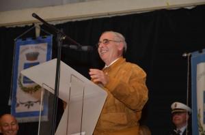 Professor Benito Liuzzo durante la cerimonia ufficiale