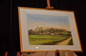 Dipinto con veduta di Castries ricevuta in dono
