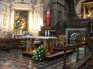 Crema S. Maria della Croce con a destra lo Scurolo