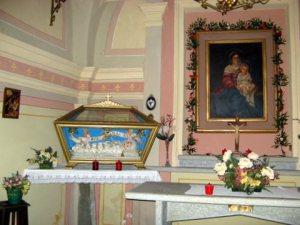Interno cappella Madonna delle vigne